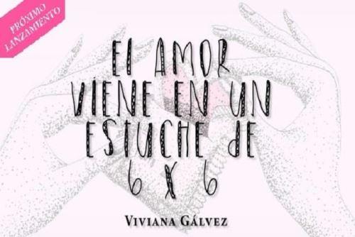 """Libro """"El amor viene en un estuche de 6 x 6""""  de Viviana Gálvez."""