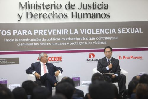 Presentación de investigación sobre agresores sexuales. Foto: Andina/Difusión