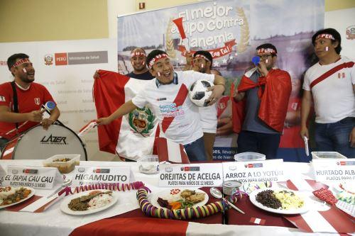 """Minsa presentó platos, postres y bebidas """"mundialistas"""" contra la anemia. Foto: ANDINA/Melina Mejía."""