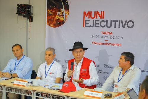 Jefe de Estado  Martin Vizcarra preside el quinto Muni Ejecutivo en Tacna