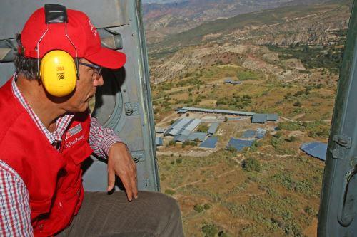 Presidente Vizcarra inspeccionó  obras de recuperación del   Complejo Arqueológico  Wari