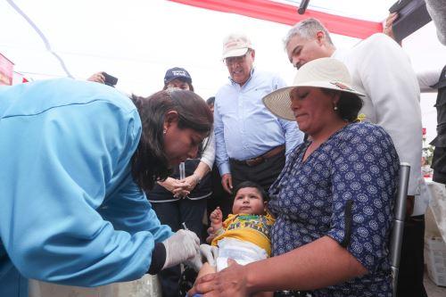 Ministro José Huerta, lideró el Lanzamiento de la Jornada Nacional contra la Anemia, en la región de Arequipa