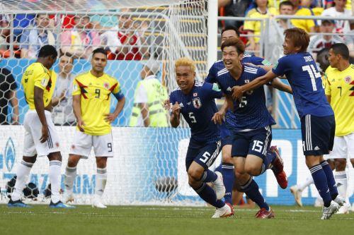 Colombia cayó 2-1 en su presentación contra Japón en el Grupo H de Rusia 2018