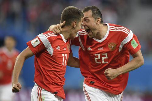 Rusia ganó 3 a 1 a Egipto en la segunda fecha del Grupo A
