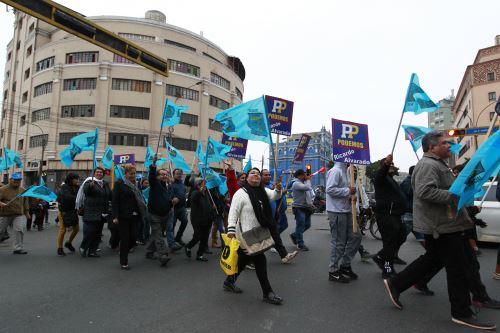 Candidatos a la alcaldía de Lima se inscriben ante el Jurado Electoral Especial (JEE) Lima Centro