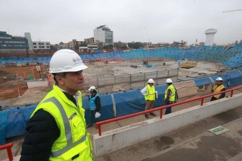 Culmina primer techado del velódromo de la Videna y avanza el Estadio Atlético
