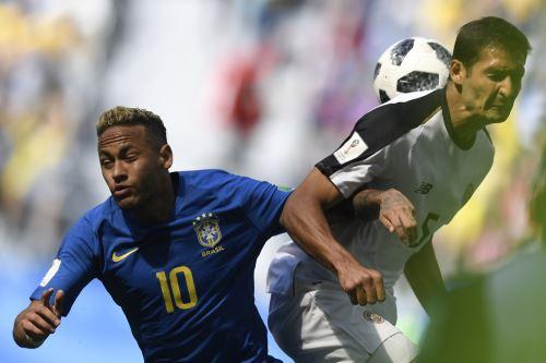 Brasil vs. Costa Rica: igualan 0-0 por el Grupo E de Rusia 2018