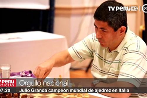 Ajedrez: Julio Granda se proclama campeón mundial sénior en Italia