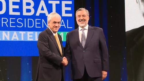 Piñera y Guillier debatieron ante elecciones presidenciales chilenas