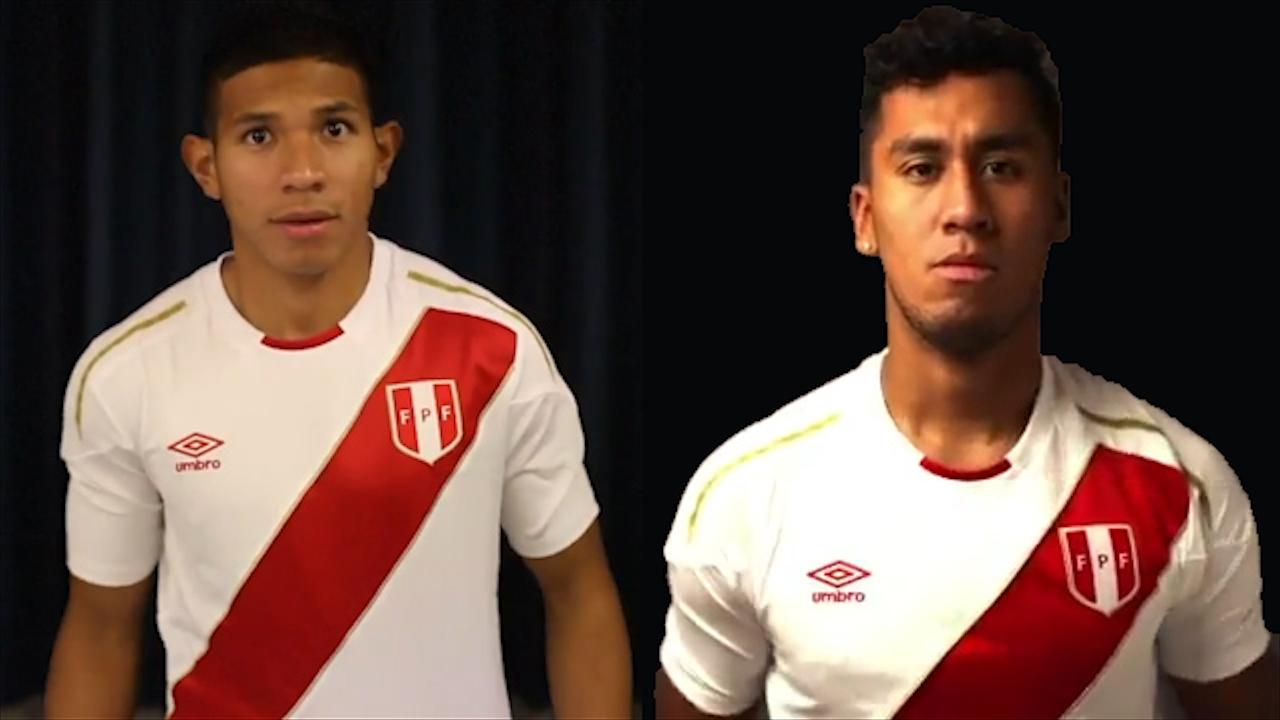 Edison Flores y Renato Tapia aceptan defender la nueva camiseta en Rusia 2018