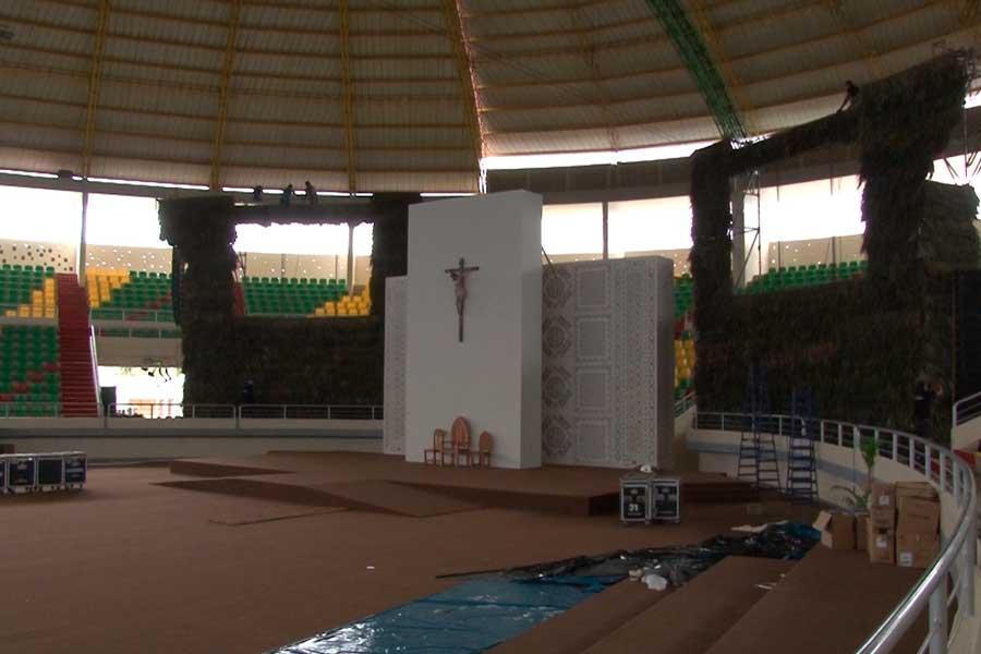 Papa Francisco: así es el altar con motivos amazónicos en Puerto Maldonado