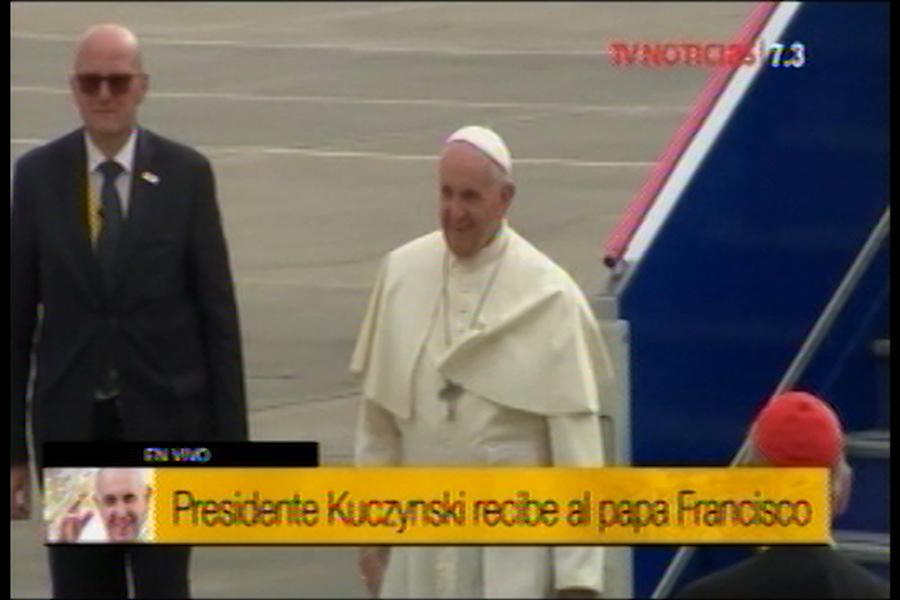 Papa Francisco llegó a Perú