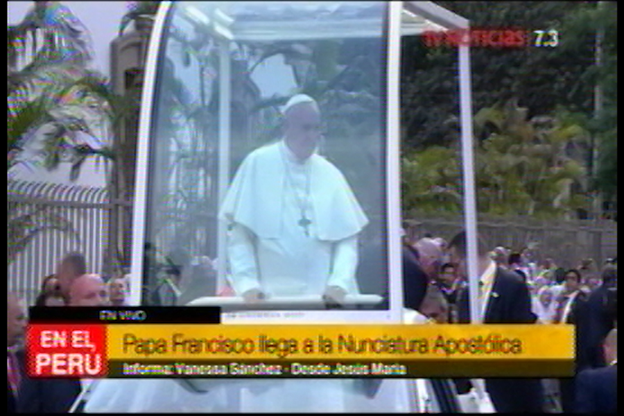 Papa Francisco llegó a la Nunciatura