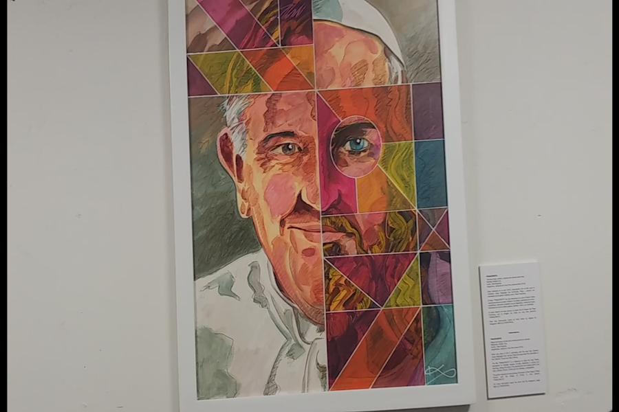 "Artista argentino presentó en Lima pintura ""Francristo"" en homenaje al Papa"