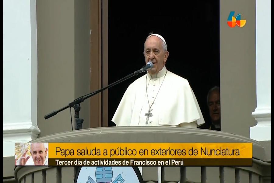 """Papa: """"Acompáñenme a Trujillo, yo volando y ustedes con los pies en la tierra rezando"""""""