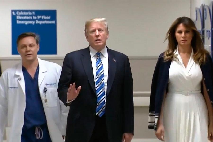 Trump visitó hospital tras masacre en Florida
