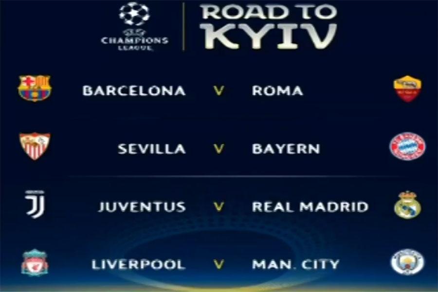 Partidos de los cuartos de final de la Liga de Campeones