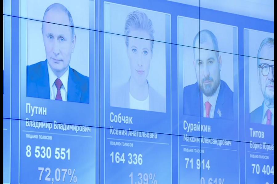 Putin gana elecciones según sondeo a pie de urna