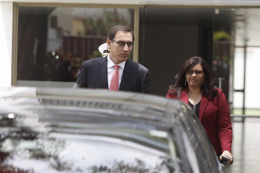 Martín Vizcarra llega a Palacio de Torre Tagle