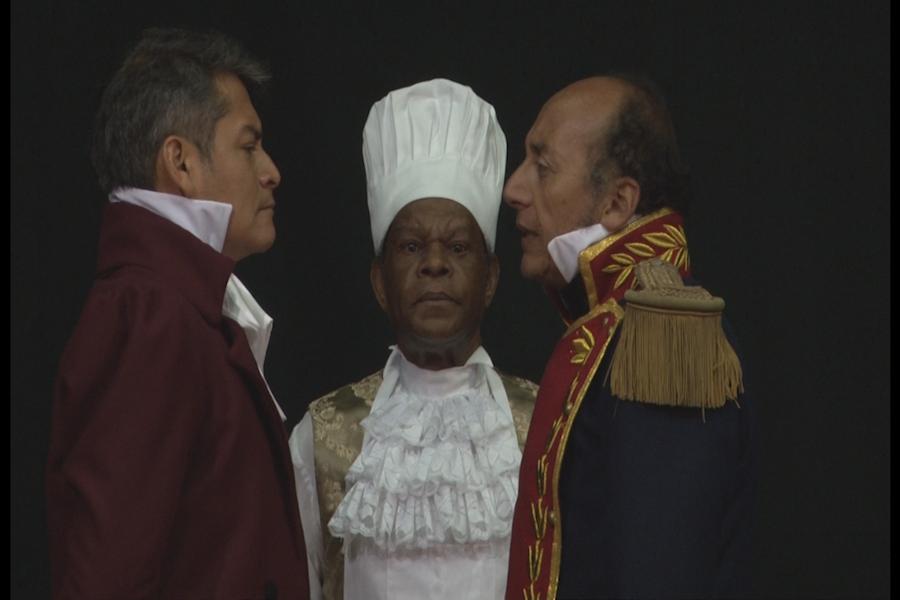 Estrenan obra teatral La visita de Bolívar