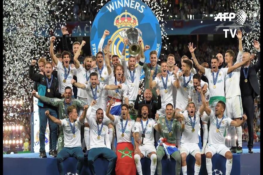 Real Madrid gana la Liga de Campeones por tercera vez consecutiva