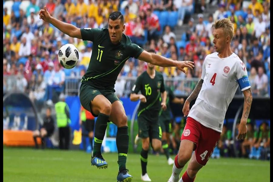 Australia empata 1-1 ante Dinamarca