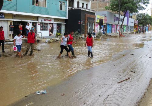Desborde de quebradas afectó en 2017 a la ciudad de Trujillo.