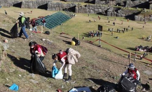 Con estas medidas se busca evitar que se acumulen toneladas de basura en Sacsayhuamán.
