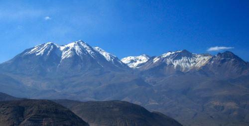 El Chachani es uno de los volcanes que se ubica cerca de la ciudad de Arequipa.
