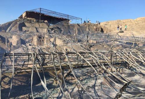 Incendio registrado a fines del 2017 ocasionó serios daños al Complejo Arqueológico Ventarrón.