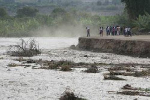 El río Mala, en Cañete, aumenta considerablemente su caudal en esta época del año.