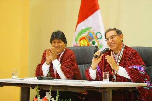 Presidente Vizcarra y Evo Morales