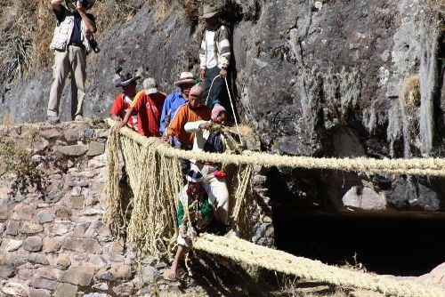 La técnica de renovación del puente Q'eswachaka fue declarada Patrimonio Cultural de la Humanidad por la Unesco.
