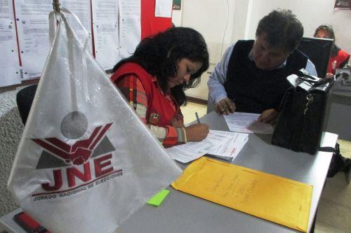 Jurado Nacional de Elecciones informó sobre listas de candidatos inscritas en La Libertad.
