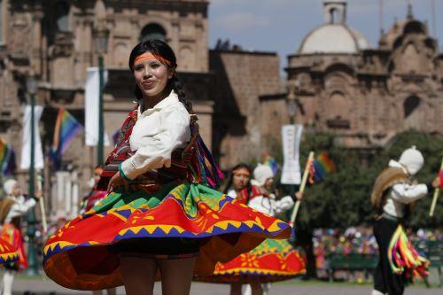 La plaza de Armas del Cusco es uno de los escenarios de la escenificación del Inti Raymi o Fiesta del Sol el 24 de junio.