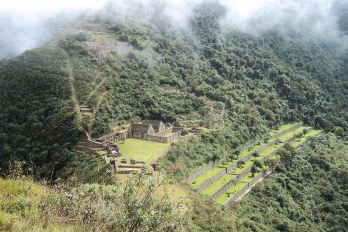 El complejo arqueológico Inca Choquequirao se ubica en Cusco.