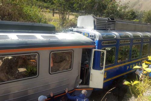 El choque de trenes que se dirigían a Machu Picchu se produjo a la altura del km. 88 de la vía férrea.