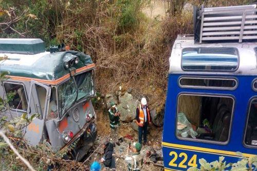 El choque de trenes en la vía a Machu Picchu dejó un total de 54 heridos.