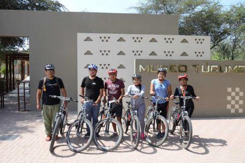 Turistas podrán recorrer en bicicleta la ruta, que incluye las Salinas Norte, Túcume Viejo, Parque Principal, huaca Las Balsas y el Museo de Sitio Túcume.
