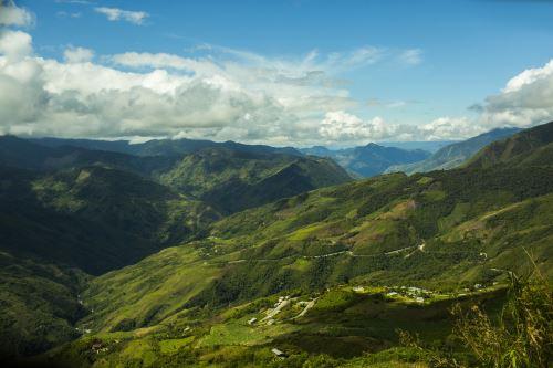 Vista panorámica del Parque Nacional Tingo María.