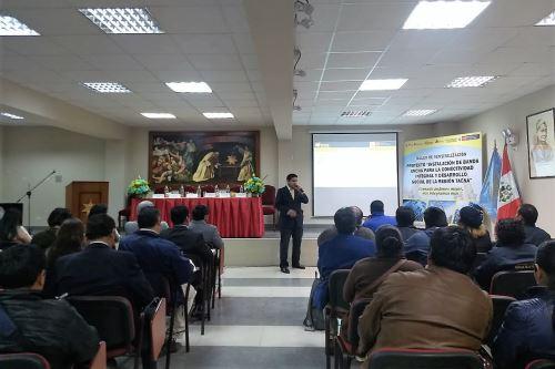 MTC realizó un taller donde se expuso los beneficios de este proyecto en Tacna.
