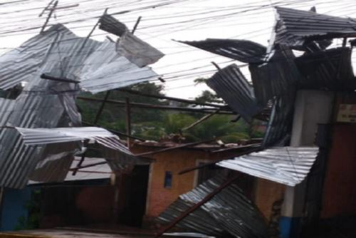 El centro urbano de Tarapoto fue una de las zonas afectadas por los vientos fuertes.
