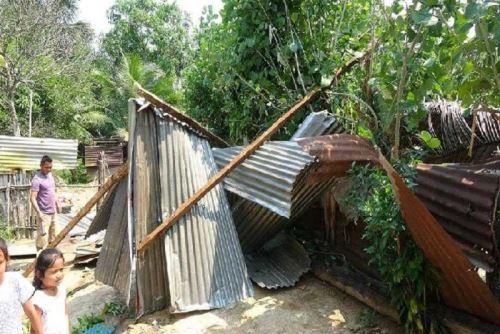 117 viviendas de San Martín fueron declaradas inhabitables por los daños causados por los vientos fuertes.