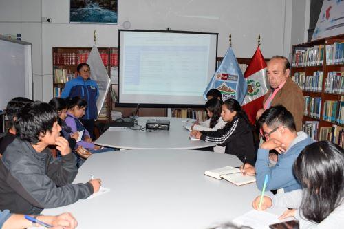 Estudiantes de la Universidad Nacional Santiago Antúnez de Mayolo se integraron al Programa de Voluntariado Universitario del Inaigem.