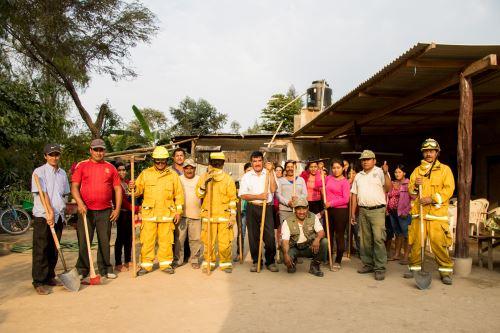 Pobladores fueron capacitados en control de incendios forestales.
