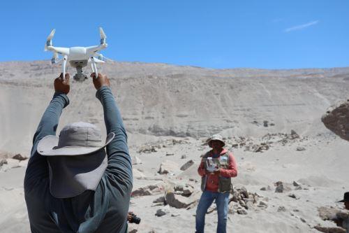 Para el levantamiento de información en Toro Muerto se utilizaron drones.