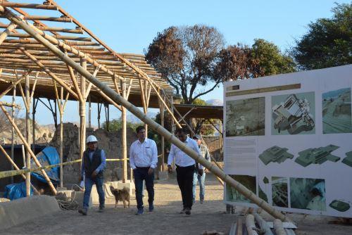 Viceministro Felipe Villacorta supervisó, en julio pasado, el avance de los trabajos de rehabilitación en Ventarrón.