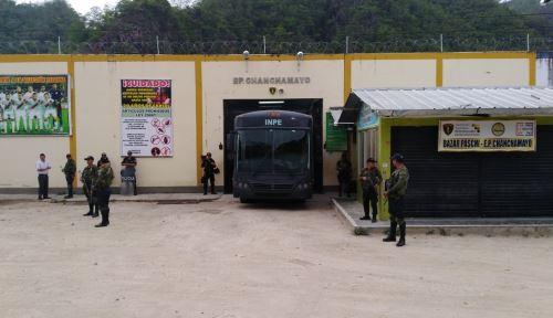 La población penal del establecimiento penitenciario Chanchamayo, región Junín, era de 830 reclusos y hoy es de 613.