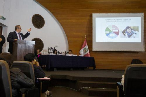 Director ejecutivo del Banco Mundial, Máximo Torero, resaltó reducción de los índices de desnutrición infantil.