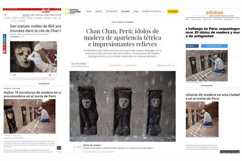 El hallazgo arqueológico fue destacado por los principales diarios del mundo.